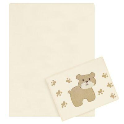 Imagem 1 do produto Jogo de lençol para berço em malha Ursinho 2 peças - Pingo Lelê