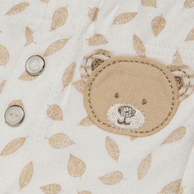 Imagem 2 do produto Calça para bebe em algodão egípcio c/ jato de cerâmica e filtro solar fps 50 Nature Little Friend Bear  - Mini & Kids - CLAV0001.19 CALÇA AVULSA - SUEDINE-P