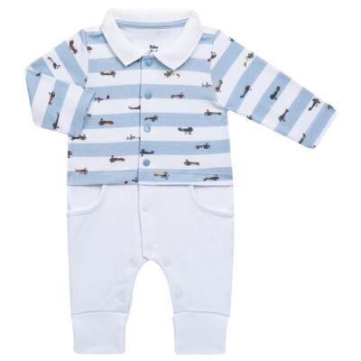 Imagem 2 do produto Jogo Maternidade com Macacão e Manta em algodão egípcio Aviões - Bibe