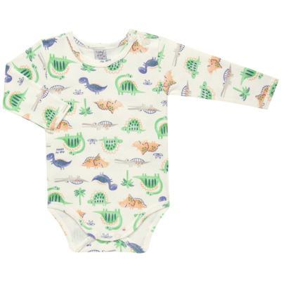 Imagem 1 do produto Body longo para bebe em suedine Dinossauros - Vicky Lipe - 03120001.34 BODY M/L - SUEDINE-P