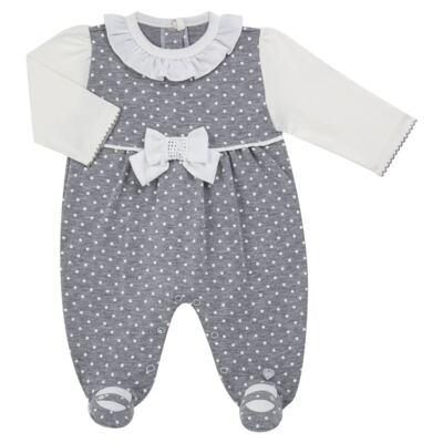 Imagem 1 do produto Macacão longo para bebe em suedine Petit Pois - Anjos Baby - AB171064.032 MACACAO LONGO FEM. T07-RN