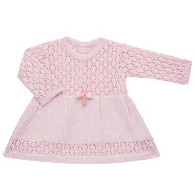 Imagem 3 do produto Jogo Maternidade para bebê: Body longo + Calça + Vestido + Manta em tricot Annie - Beth Bebê
