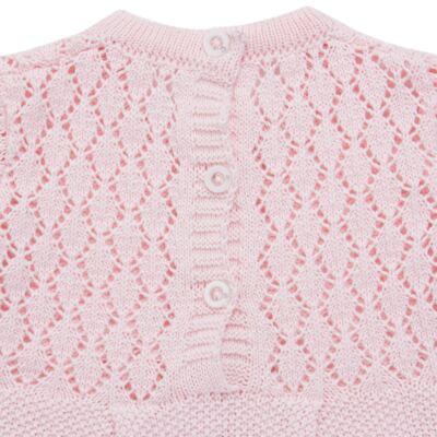 Imagem 5 do produto Jogo Maternidade para bebê: Body longo + Calça + Vestido + Manta em tricot Annie - Beth Bebê