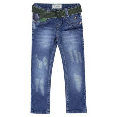 Imagem 1 do produto Calça c/ Cinto em jeans Destroyed - Toffee