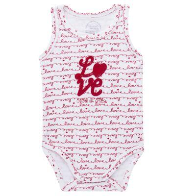 Imagem 1 do produto Body regata para bebe em algodão egípcio c/ jato de cerâmica e filtro solar fps 50  Sweet Love - Mini & Kids - BDR0005.86 BODY REGATA - SUEDINE LOVE-M