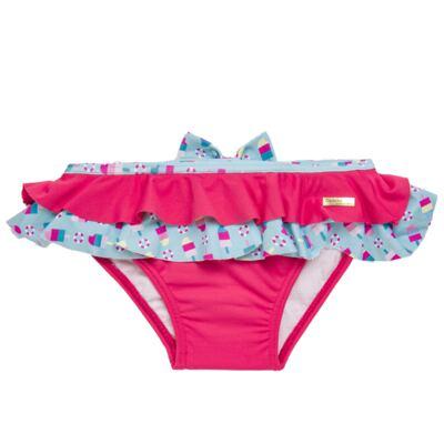 Imagem 3 do produto Conjunto de banho Sweet Candy: Biquini + Chapéu - Dedeka - DDK17433/L17 Calcinha e Chapeu Rosa Pink-2