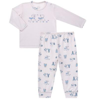 Imagem 1 do produto Pijama longo para bebe em suedine Smart Bear - Dedeka - DDK16563/E110 Pijama Suedine Urso Azul-M