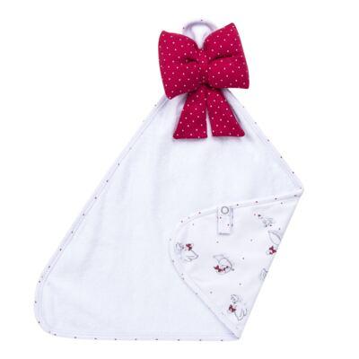 Imagem 6 do produto Kit Maternidade para bebe Noblesse: Body longo + Calça (mijão) + Naninha em suedine - Dedeka - DDK16062 Kit Body Longo com Calça e Naninha Noblesse-P