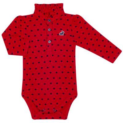 Imagem 1 do produto Body Polo para bebe com gola frufru em piquet Petit Couer - Missfloor - 03GP0002.311 BODY POLO M/L C/ GOLA FRUFRU - PIQUET-0-3