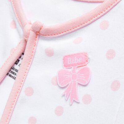 Imagem 5 do produto Conjunto Pagão Princess: Casaco + Body curto + Calça para bebe em algodão egípcio - Bibe - 39F18-G79 CONJ PAGAO POÁ-RN