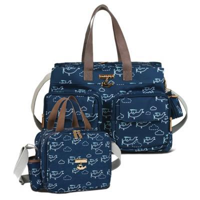 Imagem 1 do produto Bolsa para bebe Toulouse + Bolsa térmica organizadora Aviões - Masterbag - Bolsa para bebe Toulouse + Bolsa térmica Amy Aviões - Masterbag