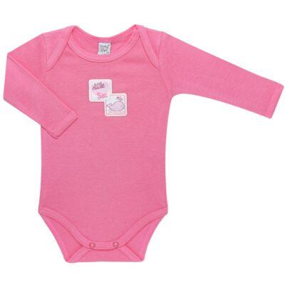 Imagem 4 do produto Pack 2 Bodies longos para bebe em high comfort Cute Whale - Vicky Lipe - 20471334 PACK BODY ML MALHA BALEIA-P