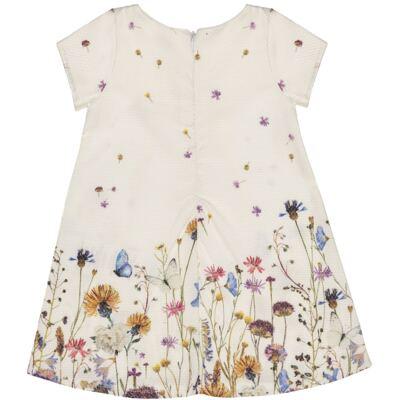 Imagem 2 do produto Vestido para bebe em piquet Borboletas - Charpey - CY22254.138 VESTIDO SARJA MC OFF WHITE-2