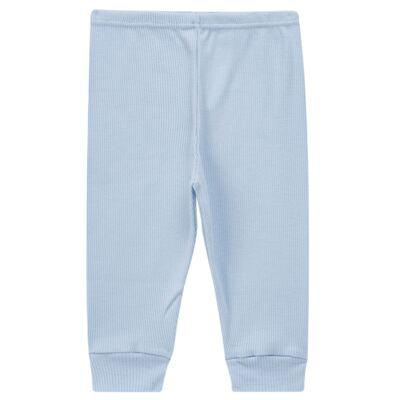 Imagem 3 do produto Pijama longo para bebe canelado Azul - Dedeka - DDK0840/25 Conjunto Canelado Azul-M