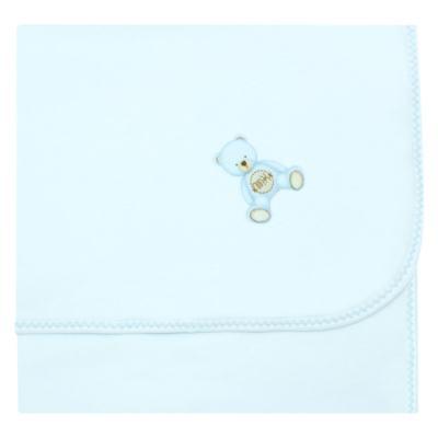 Imagem 1 do produto Manta para bebe acolchoada em Pima Cotton Supreme Prime Bear Azul - Mini & Kids