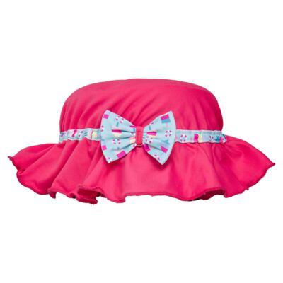 Imagem 5 do produto Conjunto de banho Sweet Candy: Biquini + Chapéu - Dedeka - DDK17433/L17 Calcinha e Chapeu Rosa Pink-G