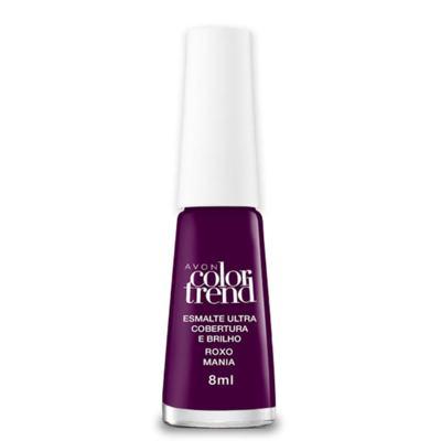 Imagem 1 do produto Esmalte Ultra Brilho e Longa Duração Color Trend 8ml - Esmalte Ultra Brilho e Longa Duração Color Trend 8ml - Roxo Mania