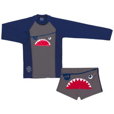 Imagem 1 do produto Conjunto de Banho Tuba: Camiseta surfista + Sunga - Cara de Criança - KIT 2 2571: SB2571+CSAL2571-4