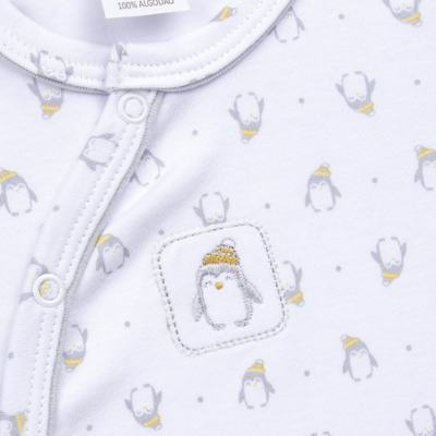 Imagem 2 do produto Macacão longo para bebe em algodão egípcio Penguin - Piu-Piu - PIU912025.001 MACACÃO COMP. PINGUIM -M