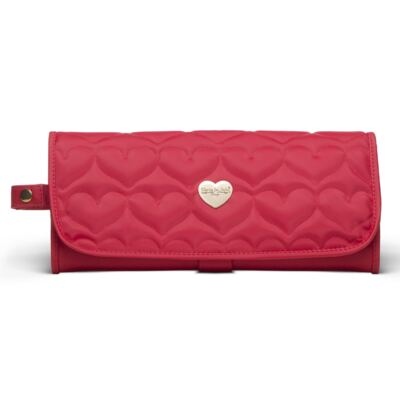 Imagem 3 do produto Bolsa Térmica para bebe Valência + Trocador Portátil Corações Matelassê Vermelho- Classic for Baby Bags