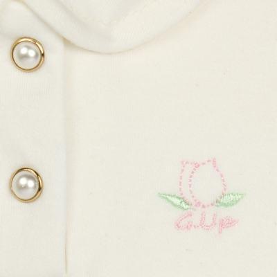 Imagem 3 do produto Body Polo com Shorts para bebe em suedine Florale - Grow Up - 04080008.0004 CONJUNTO FLOWERY CREME-P
