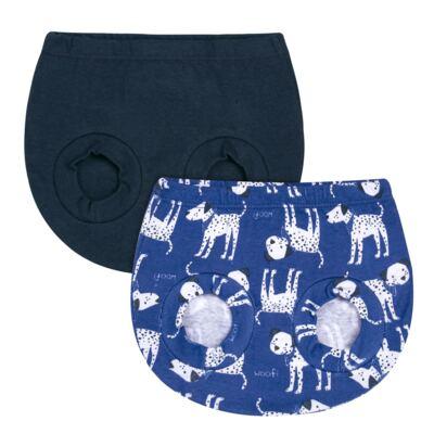 Imagem 1 do produto Pack Dalmatians Blue: 02 Cobre Fraldas em high comfort  - Vicky Lipe - 10220001.37 PACK 2 COBRE FRALDAS - SUEDINE-M