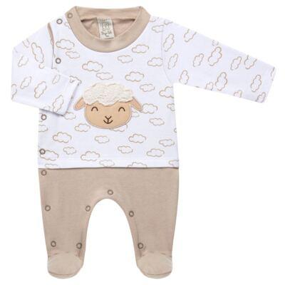 Imagem 2 do produto Jogo Maternidade com Macacão e Manta para bebe em malha Ovelhinha - Pingo Lelê - PL65721 KIT PRESENTE MACACAO E MANTA OVELINHA-RN