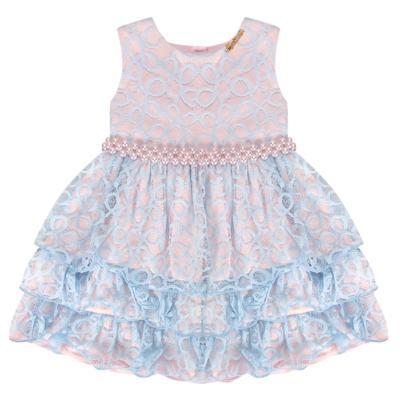 Imagem 1 do produto Vestido para bebe em renda Grace - Miss Sweet - SW2076 Vestido Renda Azul-4