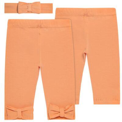 Imagem 1 do produto Legging com Faixa em spandex Tangerine - Mini & Kids - LLE1649 LEGGING C/ LAÇO E FAIXA EXPAND FLORAL 2-P