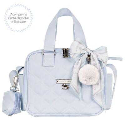 Imagem 4 do produto Mala maternidade com Rodízio + Bolsa Anne + Bolsa térmica organizadora + Mochila Soldadinho Azul - Masterbag