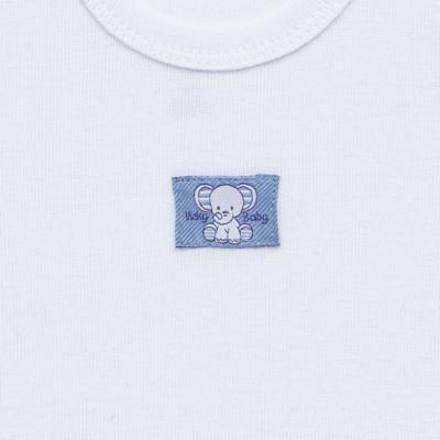 Imagem 3 do produto Pack Elefantinho: 02 regatas em high comfort - Vicky Baby - 1021-713 ELEF AZUL PK 2 RGT BEBE SUED HIGH-M