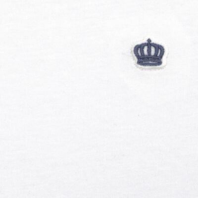Imagem 2 do produto Camiseta em malha Branca  - Baby Classic - 673998 CAMISETA MC MALHA BRANCO-M