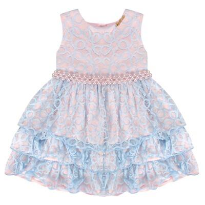 Imagem 1 do produto Vestido para bebe em renda Grace - Miss Sweet - SW2076 Vestido Renda Azul-3
