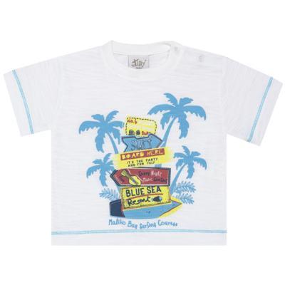 Imagem 2 do produto Camiseta c/ Bermuda em malha Maverick - Tilly Baby - TB166303 CONJ MASC TACTEL COQUEIROS-3