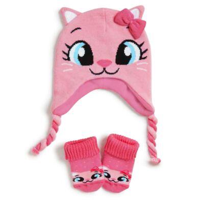 Imagem 1 do produto Kit Touca para bebe + Meia Gatinha - Puket