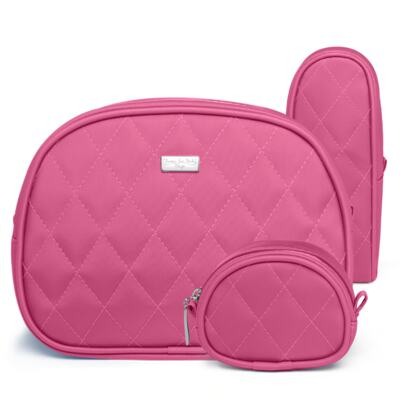 Imagem 5 do produto Kit Mala Maternidade para bebe + Bolsa Havana + Frasqueira Térmica Aruba + Kit Acessórios + Trocador Portátil Colors Pink - Classic for Baby Bags