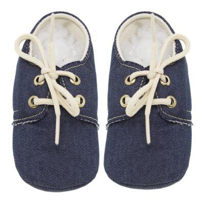 Imagem 1 do produto Mocassim para bebe Jeans - Roana - 16040010493 MOCASSIM JEANS-M