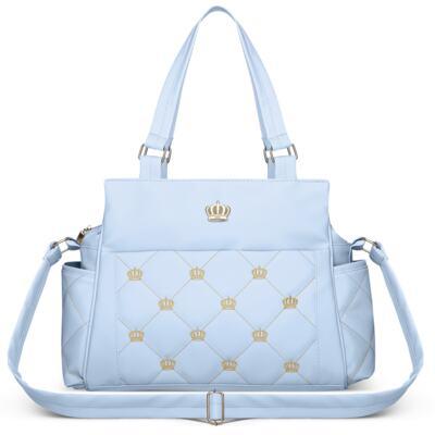Imagem 3 do produto Mala Maternidade + Bolsa Elizabeth + Bolsa Térmica Elizabeth + Trocador Portátil para bebe Queen Light Blue - Classic for Baby Bags