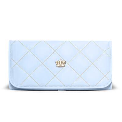 Imagem 5 do produto Mala Maternidade + Bolsa Elizabeth + Bolsa Térmica Elizabeth + Trocador Portátil para bebe Queen Light Blue - Classic for Baby Bags