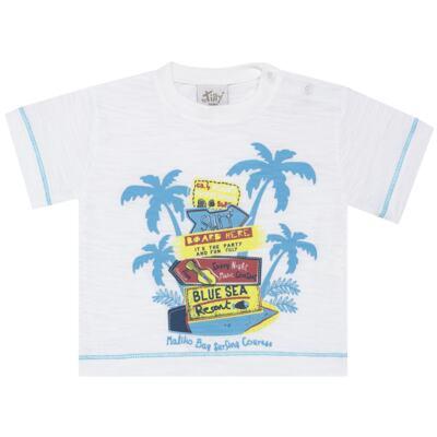 Imagem 2 do produto Camiseta c/ Bermuda em malha Maverick - Tilly Baby - TB166303 CONJ MASC TACTEL COQUEIROS-G