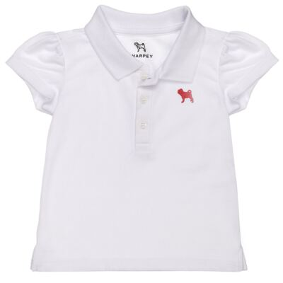 Imagem 1 do produto Polo feminina em piquet Branca - Charpey - CY22295.101 POLO FEM PIQUE MC BRANCO-2