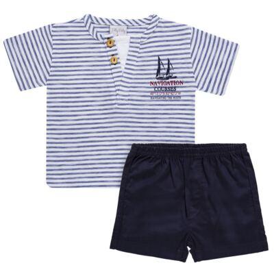Imagem 1 do produto Camiseta com Shorts em malha Navigation Course  - Tilly Baby