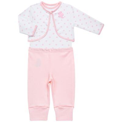 Imagem 1 do produto Conjunto Pagão Princess: Casaco + Body curto + Calça para bebe em algodão egípcio - Bibe - 39F18-G79 CONJ PAGAO POÁ-P