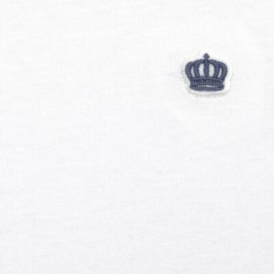 Imagem 2 do produto Camiseta em malha Branca  - Baby Classic - 673998 CAMISETA MC MALHA BRANCO-3