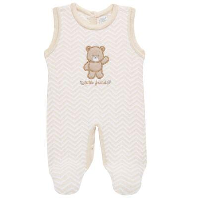 Imagem 4 do produto Jardineira c/ Body longo para bebê em tricot Nature Little Friends - Mini & Classic - 1606650 JARDINEIRA C/ BODY TRIC/SUED NATURE-P