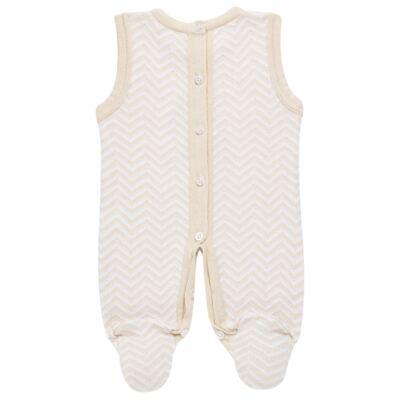 Imagem 5 do produto Jardineira c/ Body longo para bebê em tricot Nature Little Friends - Mini & Classic - 1606650 JARDINEIRA C/ BODY TRIC/SUED NATURE-P
