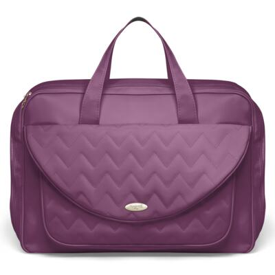 Imagem 2 do produto Mala Maternidade para bebe + Bolsa Gênova + Frasqueira Térmica Nápoli + Kit Acessórios Chevron Ametista - Classic for Baby Bags