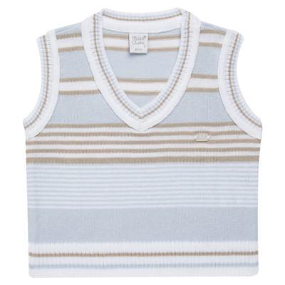 Imagem 1 do produto Colete para bebe em tricot Stripes  - Mini & Classic - 4508656 PULOVER LISTRADO TRICO URSO-G