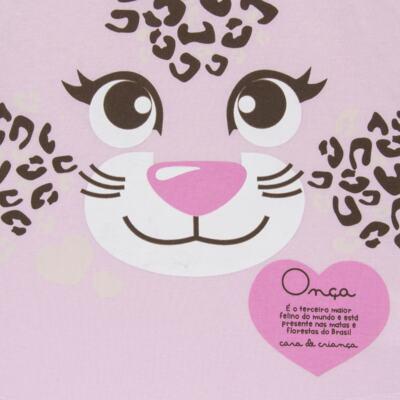 Imagem 3 do produto Pijama curto que Brilha no Escuro Onça Pintada - Cara de Criança - U1820 ONCA PINTADA PIJAMA-CURTO M/MALHA -1