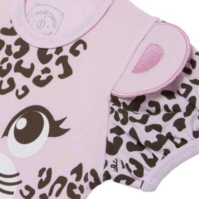 Imagem 4 do produto Pijama curto que Brilha no Escuro Onça Pintada - Cara de Criança - U1820 ONCA PINTADA PIJAMA-CURTO M/MALHA -1